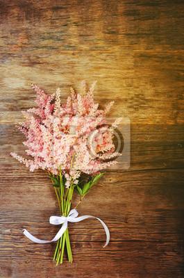 Naklejka różowe kwiaty
