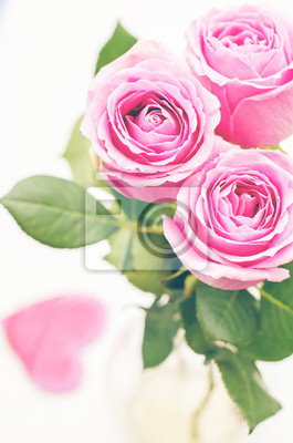Naklejka różowe róże