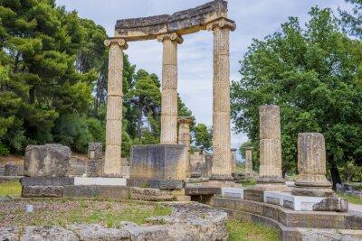 Naklejka Ruiny w starożytnej Olimpii Philippeion (Grecja)