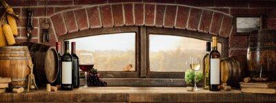 Rustykalna piwnica winna na wsi