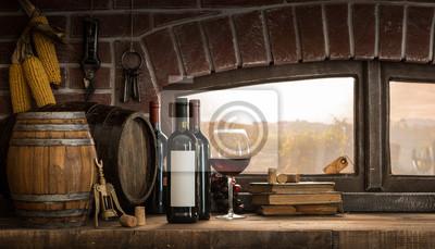 Rustykalna piwniczka na wino na wsi