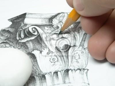 Naklejka rysunek