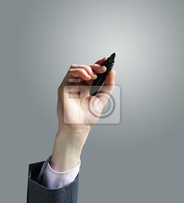 Naklejka Rysunek odręczny Biznesmen w tablicy