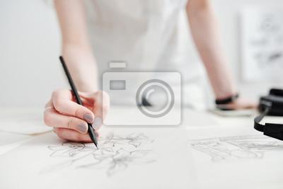 Naklejka Rysunki szkicu rysunku