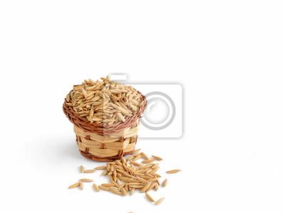ryż niełuskany, z koszem