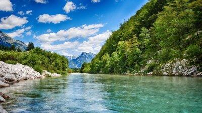 Naklejka Rzeka Soca HDR