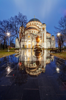 Naklejka Saint Sava Temple