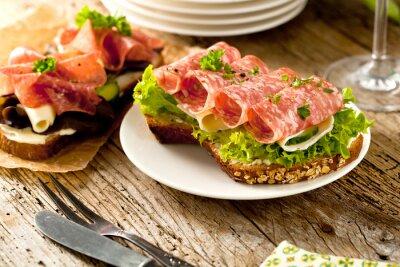 Naklejka Salami sandwich