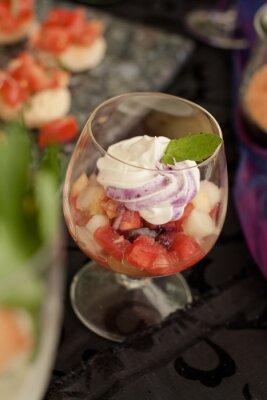 Sałatka owocowa w szklance