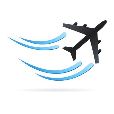 Naklejka Samolot - Ikona