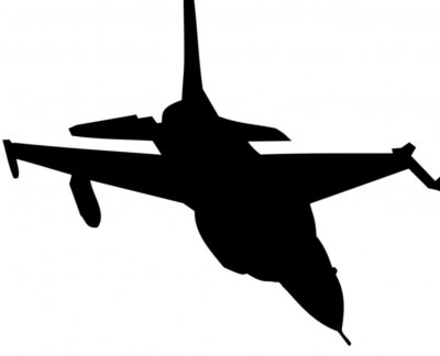 Naklejka samolot myśliwski