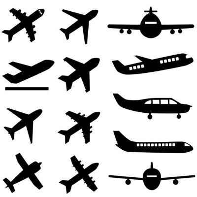 Naklejka Samoloty w czerni
