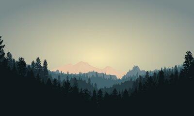Naklejka Scena lasu Mountain Range