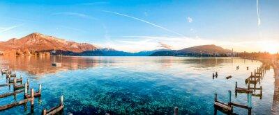Naklejka Scenic View Of Lake Against Sky