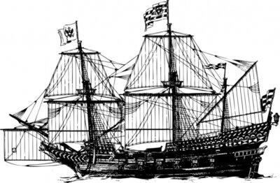Naklejka Schiff segelschiff Vektor