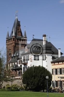 Schloss und Schlossturm w Weinheim