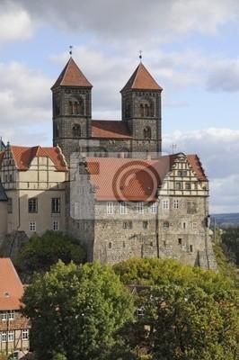 Schloss und Stiftskirche w Quedlinburg
