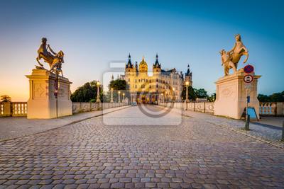 Naklejka Schwerin palace or Schwerin Castle, northern Germany.