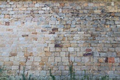 Naklejka Ściana z kamienia naturalnego