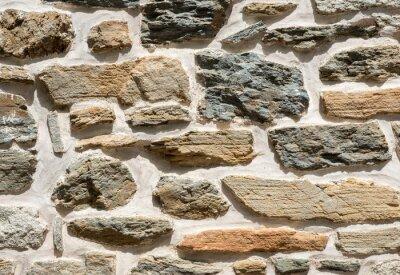 Naklejka Ściana z kamienia tekstury, kamienny mur tekstury tła z miejsca na kopię