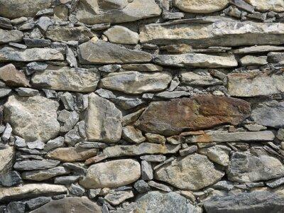 Naklejka Ściany z kamienia naturalnego