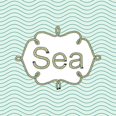 Naklejka Sea rocznika banner z miejsca na tekst. retro tapety