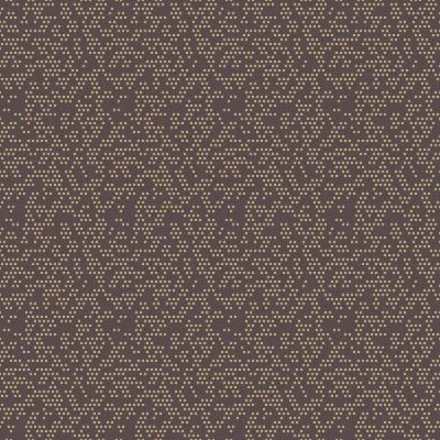 Naklejka Seamless geometric vector pattern. Modern brown and golden ornament with dotted elements. Geometric abstract pattern