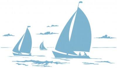 Naklejka Segelboote Zeichnung