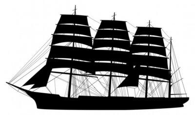 Naklejka Segelschiff Sylwetka Schiff