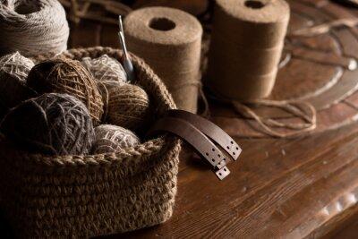 Naklejka Set for crochetting from jute hobby