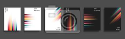 Naklejka Set of backgrounds with gradient color lines
