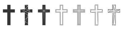 Naklejka Set of Christian Cross. Abstract vector icons.