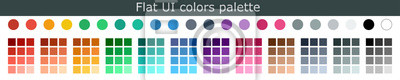 Naklejka Set of colorful trendy flat color template. Collection palette of flat style color swatches for web design. Trendy colors squares palettes of new season. Vector Illustration. EPS 10