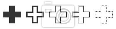 Naklejka Set of Medical Cross vector icons isolated.