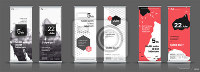 Naklejka Set of templates with a design of vertical banners.