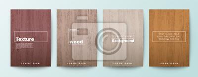 Naklejka Set of wood texture background. Wooden board background for Brochure, Flyer, Poster, leaflet, Annual report, Book cover, Banner, Presentation, Website, App, wallpaper.
