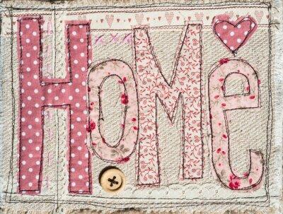 Naklejka sewed shabby chic home text background decoration