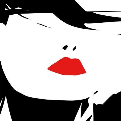Naklejka sexy usta kobiety