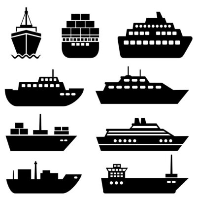 Naklejka Ship and boat icons