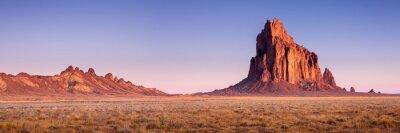 Naklejka Shiprock New Mexico Southwestern Desert Landscape