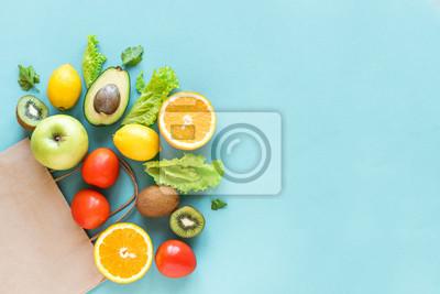 Naklejka Shopping healthy food