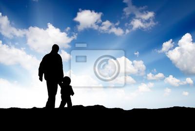 Silhoettes z ojca i syna. Skład związku