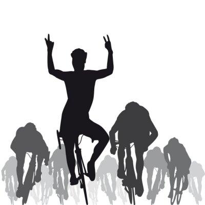 Naklejka Silhouette_Cycliste_Sprint