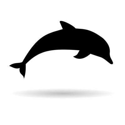 Naklejka Silhouette dolphin - Illustration