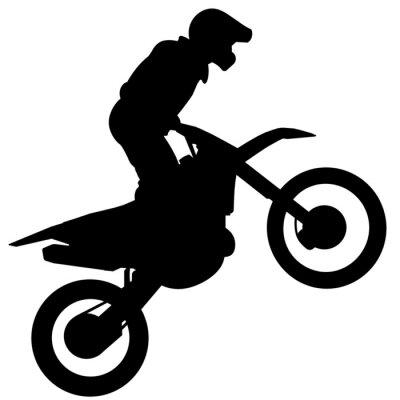 Naklejka Silhueta - Motocross