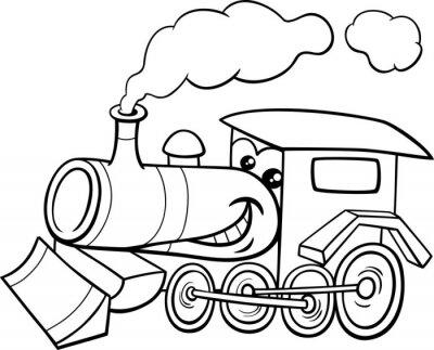 Naklejka silnik parowy kreskówki farbowanie strony
