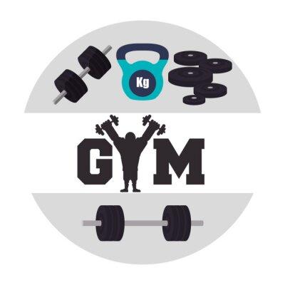 Naklejka Siłownia i fitness ikony projektowania