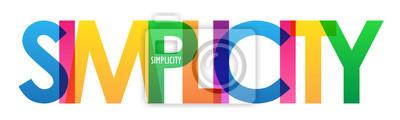 Naklejka SIMPLICITY colorful vector typography banner