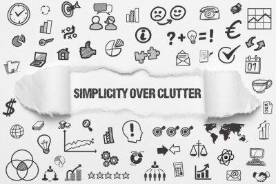 Naklejka Simplicity over clutter