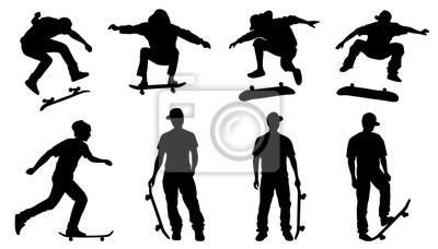 Naklejka skater sylwetki